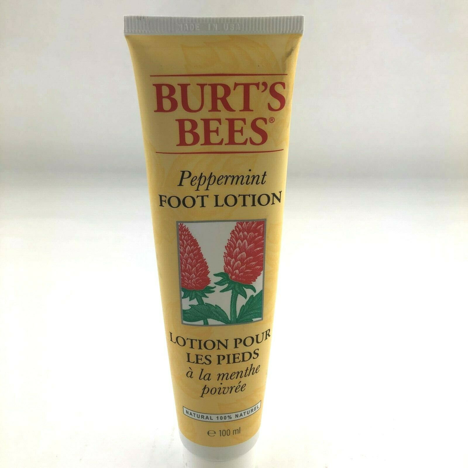 Burt's Bees Natural Peppermint Foot Lotion Skin Care 3.38 oz Brand New 1
