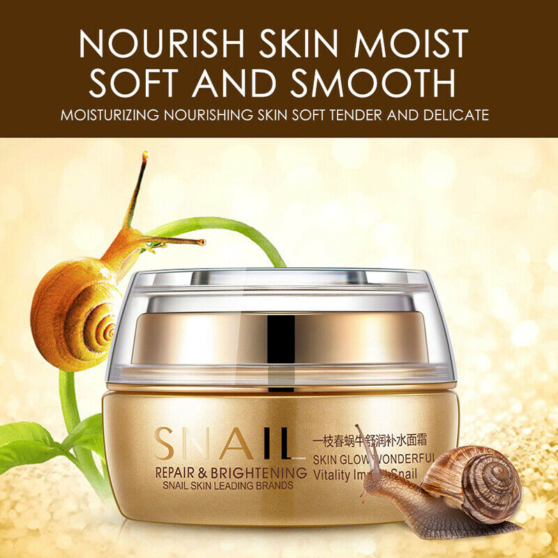 Best Korean Nature Snail Cream Face Skin Care Serum Anti Wrinkles Acne Day Night 1