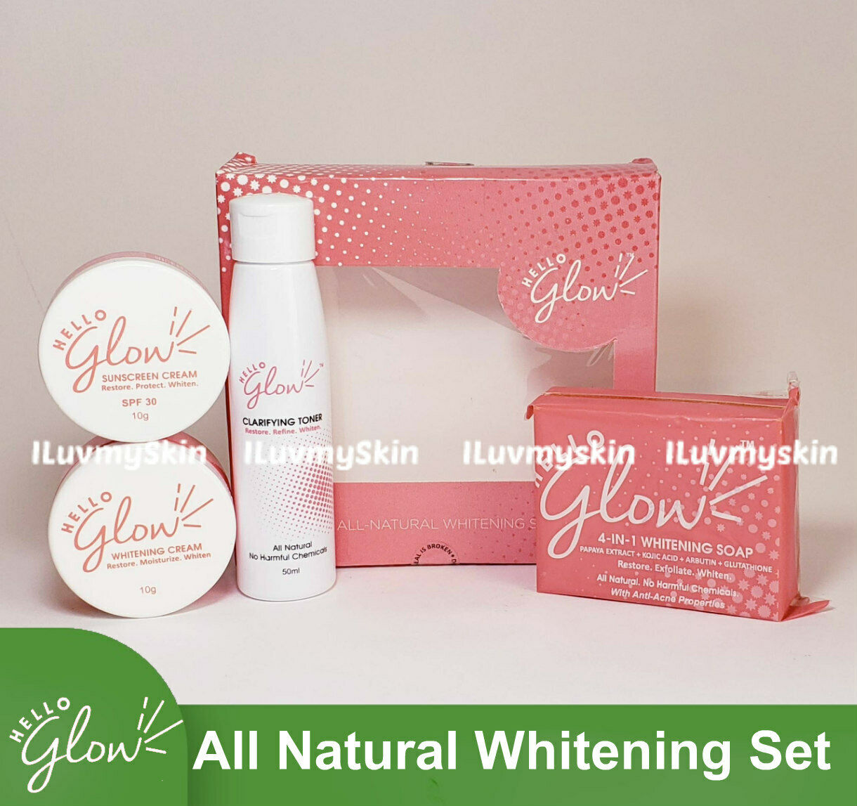 Hello Glow All Natural Whitening Set by Ever Bilena 1