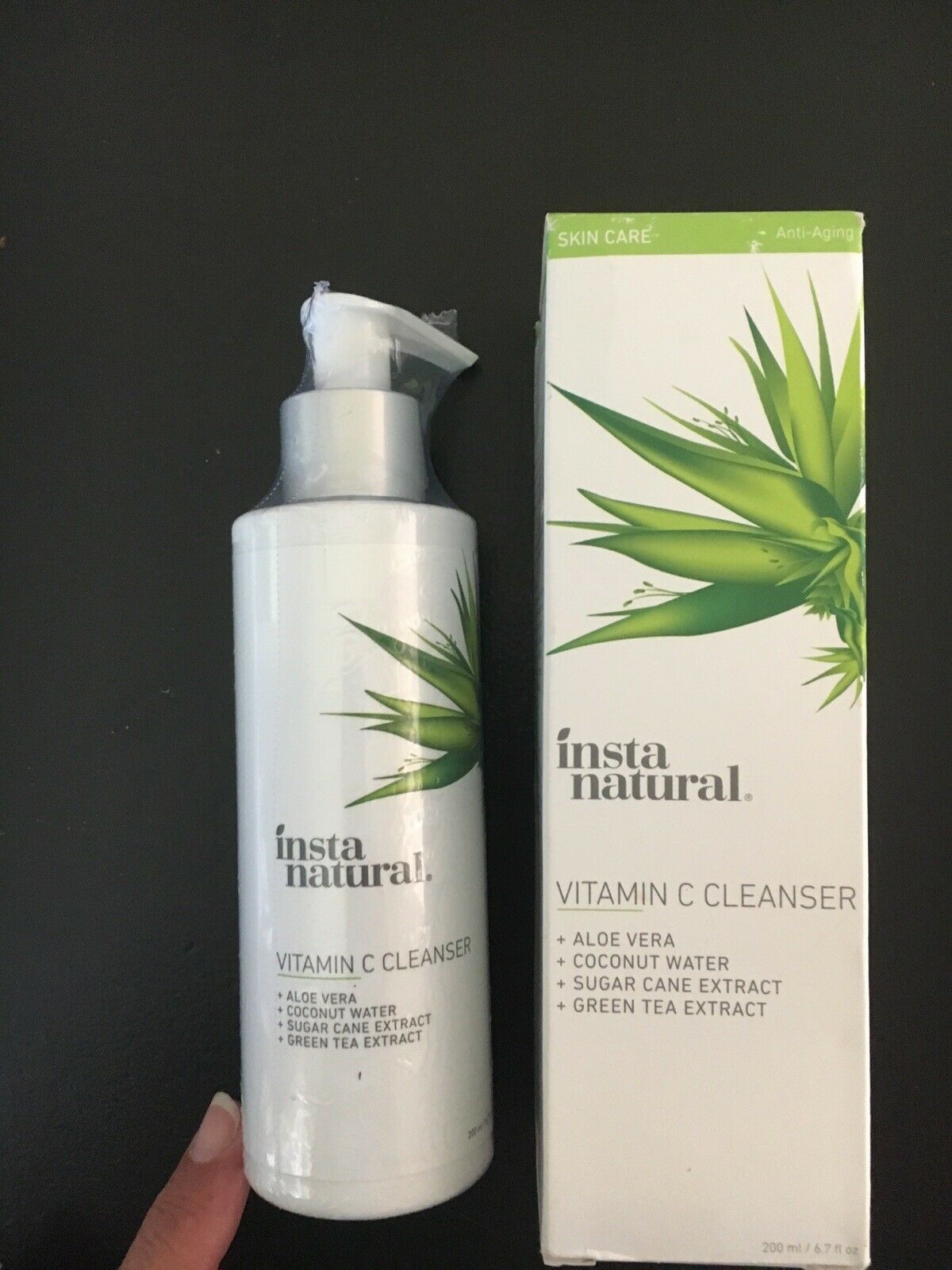 Insta Natural Vitamin C Cleanser Aloe,Coconut Water & More, SHIPS FREE, Sealed 1