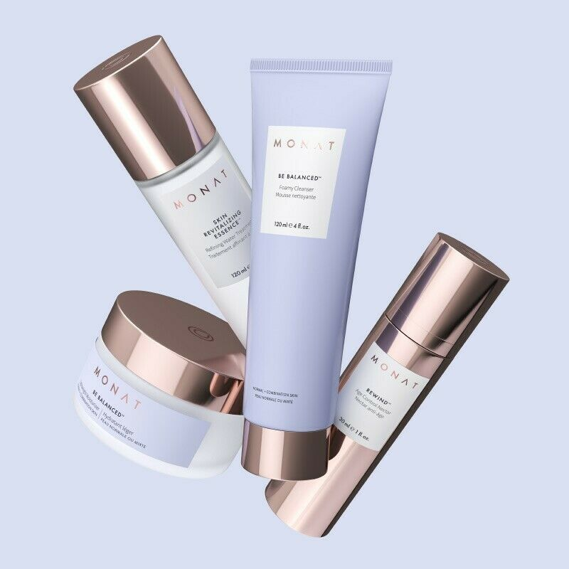 MONAT BE BALANCED Skin Care Routine(4 Pieces) For Normal Skin New and Sealed 1